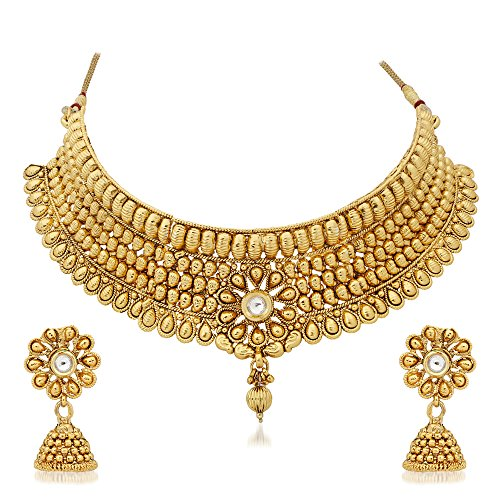 Reeva Exquisite Tear Drop Design Bridal Necklace Set For Women