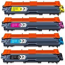 Fituwork 1Set Sostituzione Compatibile per Brother TN241 TN245 Cartuccia del toner Ha funzionato per Brother DCP-9020CDW DCP-9015CDW HL-3140CW HL-3150CDW HL-3170CDW MFC-9340CDW MFC-9140CDN MFC-9330CDw Stampante di serie MFC-9130CW (1B1C1Y1M - 4Packs)