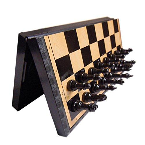 Schachspiel, Zarupeng Plastik Faltender Magnetischer Schachbrett Wettbewerb Schach-Set (One Size, Braun)