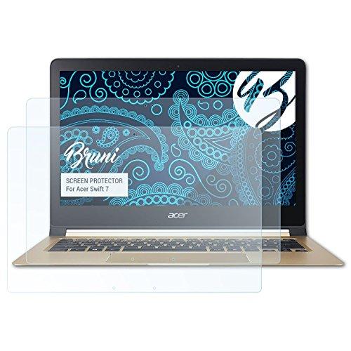 Bruni Schutzfolie für Acer Swift 7 Folie, glasklare Displayschutzfolie (2X)