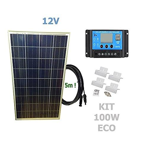 Kit 100W ECO 12V panneau solaire