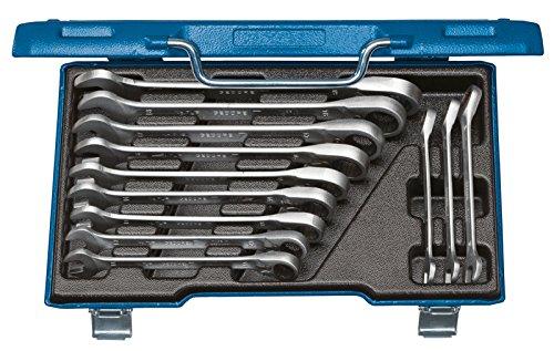 GEDORE Ring-Maulschlüssel-Satz mit umschaltbarer Ratsche 7 UR-012 / 12-tlg. Schraubenschlüssel- und Umschalt-Ratschenschlüssel-Set aus Vanadium Stahl für Schrauben & Muttern mit Ø von 8 - 19 mm (7 8 Umschaltbarer Schraubenschlüssel)