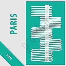 Radiador DE pared para cuarto DE baño secado DE servilletas, diseño DE París, color blanco, P-25, 1300 x 700