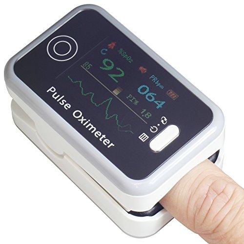Fingerpulsoximeter CMS 50E mit 24 Std. Aufzeichung mit Zubehör