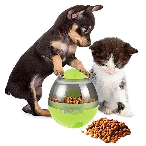 NIBESSER Hund Hundfutter Hundespielzeug Interaktiver Treat-Dispensing-Ball für Hunde & Katzen Erhöht IQ und Mentale Stimulation, Tumbler Design Leicht zu Reinigen (grün) Design Tumbler