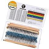 1000PCS 1//2/W1/ /10/m Ohm 5/% resistori a film kit componenti elettronici per fai da te e esperimenti
