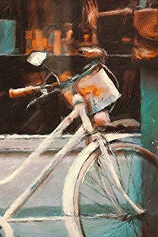 White Bicycle - Blank Notebook: 101 Pages, 6 x 9 Journal, Soft Cover