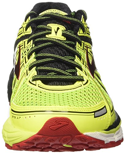 Brooks Adrenaline Gts 17, Scarpe da Corsa Uomo Giallo (Nightlife/Black/True Red)