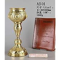 Altar Religion AB01 - Taza y plato de latón para cáliz (101 tipos ...