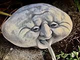 Steinfigur Wasserspeier Kopf Garten Deko-Gartenfigur Koi Teich Wasserspucker W7