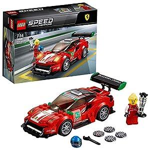 """LEGO Speed Champions - Ferrari 488 GT3 """"Scuderia Corsa"""", Juguete de Construcción de Coche de Carreras Rojo para Niños y Niñas de 7 a 14 Años (75886)"""