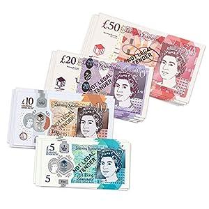Learning Resources- Set DE Dinero del Reino Unido (50 Billetes), Color (LSP1800-NOT)