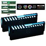 Ubanner Universal RGB Always on RAM Shell Memory Glowing Disipador de Calor para computadora LED Chaleco de refrigeración Fin Heat Sink Controller para DDR3 DDR4 (M Series)