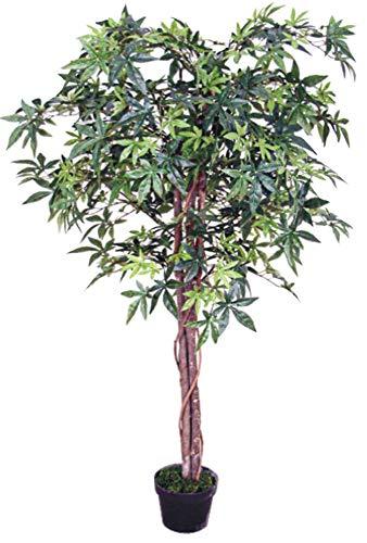 Decovego Ahorn Ahornbaum Kunstpflanze Kunstbaum Künstliche Pflanze 150cm Echtholz
