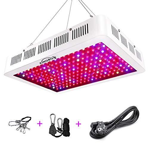 KINGBO LED Pflanzenlampe 1500W LED Grow Light,Double Chips Dual Optical Lens Vollspektrum LED Grow Lampe Pflanzenlicht für Zimmerpflanzen Gemüse und Blumen - Wachsen Zelt 3x4