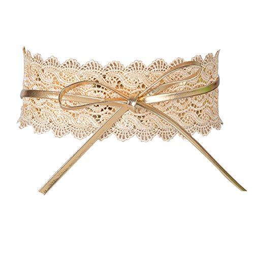 Cinturón Ancho Obi Ajustable para Mujer para Vestidos de Fiesta Boda (Dorado ) a6d02765ff0e