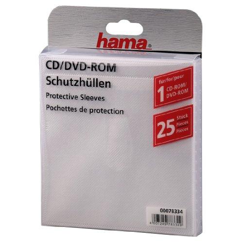 Hama CD-ROM/DVD-ROM Sleeves, Self-adhesive