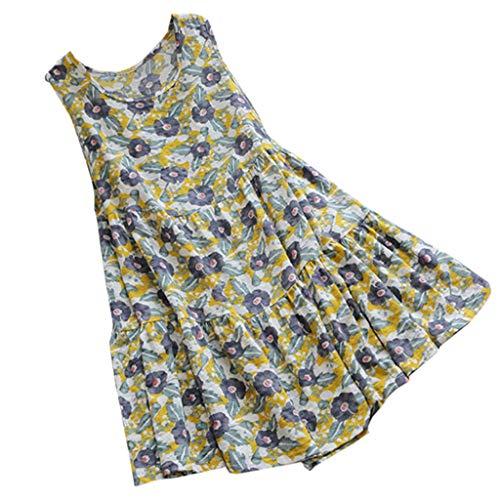 amen Sommer V Ausschnitt Beiläufiges Schulterfreies Boho Strand Blumen Rock Sommerkleider Strandkleider ()