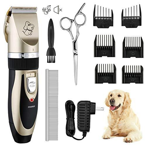 OMORC Leise Schermaschine Hund Tierhaarschneider Haarschneidemaschine Katze Haustier Rasierer Trimmer Haustier