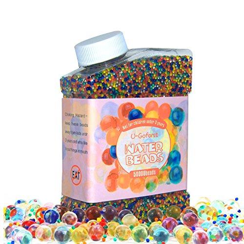 Wasser-Gelperlen in den Farben des Regenbogens (50.000Perlen) für Hochzeit, Vasen, Pflanzendeko, Party, Heimdekoration, kreativitätsfördernd