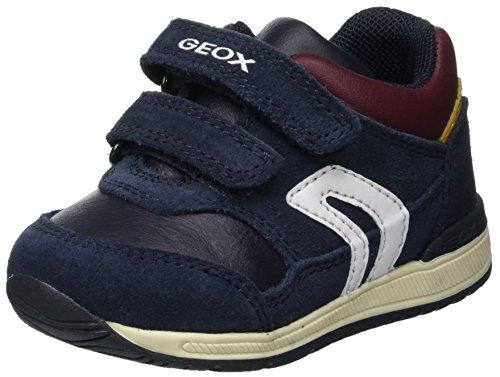Geox B Rishon Boy A, Zapatillas para Bebés, (Navy/Bordeaux C4335), 21 EU