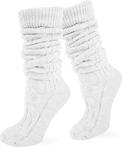 Socken kurz oder Lang für Trachten Lederhose Farben frei wählbar! Farbe Weiß extra lang Größe 39/42