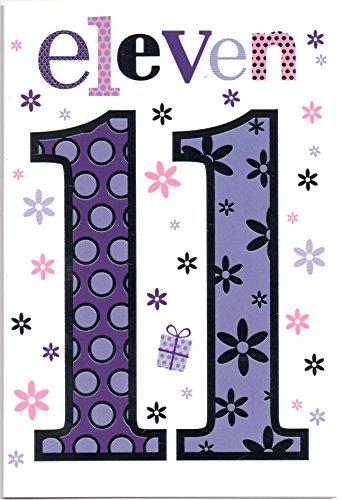 Geburtstagskarte für Elf (11) Jahr Mädchen–Kostenloser 1st Class Post - Birthday 1 Supplies Party Mädchen