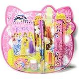Kids Stationary Set   Pencil Gift Set   School Supply Set   Pencils And CAPS Eraser Sharpener Scale Mini Diary   8 Pcs (Disney Princess)