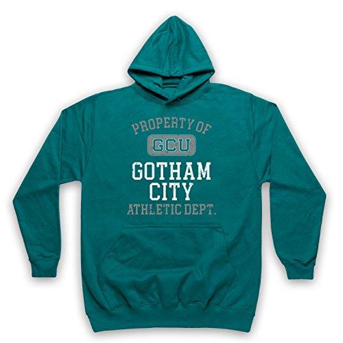 The Guns Of Brixton Justice League Cyborg GCU Gotham City Athletic Dept Erwachsenen Kapuzensweater, Jadegrün, XL - City Tv Brust