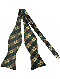Pensee Mens Self Bow Tie Plaids & Checked Jacquard Woven Silk Bow Ties-Various Colors
