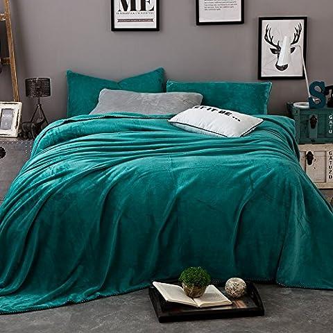 CLG-FLY Tappeto composto di ispessimento coperta coperta in pile tappeto bambino autunno/inverno di napping coperte ,Verde smeraldo,150 * 200