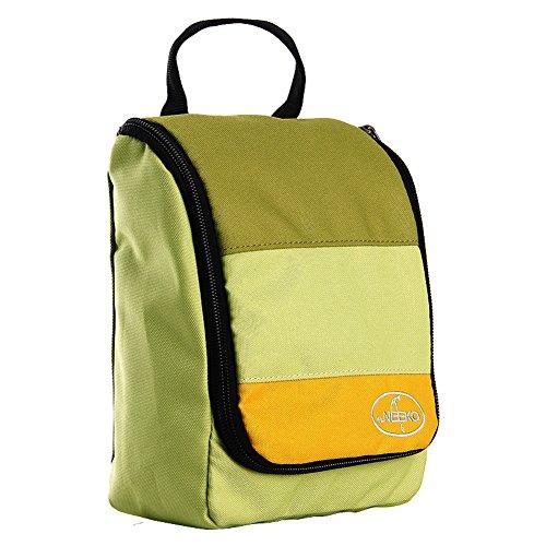 Sac de lavage de voyage/Sac à cosmétiques imperméable à l'eau portable entreprise/Voyages plein air sac de rangement-vert
