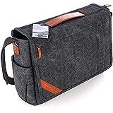 Große Umhängetasche für Herren + Laptop Tasche 15.6 Zoll [2018 DESIGN] Messenger Bag Kuriertasche, Schultertasche von höchster Qualität [GERMAN BRAND] für Arbeit, Uni, Reise, Sport (graubraun)