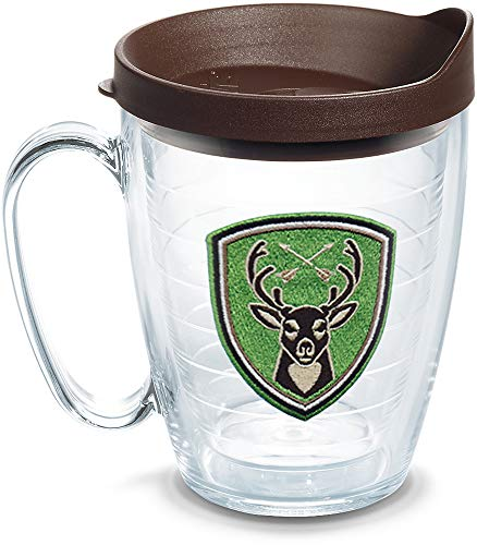 Tervis 1305479 Insulated Tumbler with Emblem and Lid, 16 oz, Clear Titan Insulated Mug
