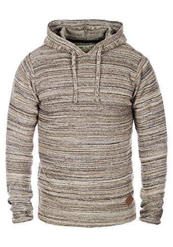 !Solid Macall Herren Strickpullover Kapuzenpullover Feinstrick Pullover Mit Kapuze Und Melierung Aus 100% Baumwolle, Größe:L, Farbe:Dune (5409)