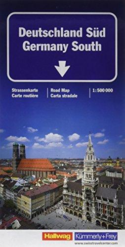 K+F Deutschland Straßenkarte Süd 1 : 500 000: Mit Sehenswürdigkeiten und Ortsindex, wasserfest (Kümmerly+Frey Strassenkarten)