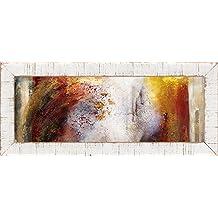 Cuadro madera 140 x 60 cm. Lámina barnizada con efecto enmarcado en tablón de madera. …