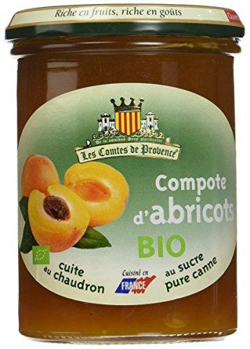Les Comtes de Provence Compote d'Abricots Bio 420 g - Lot de 3