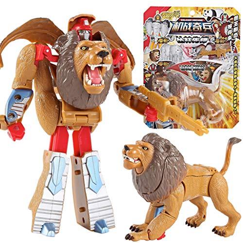 Roboter ,Kinder Spielzeug Tier Transformator Roboter Auto Anime Figur Jungen und Mädchen (C) ()