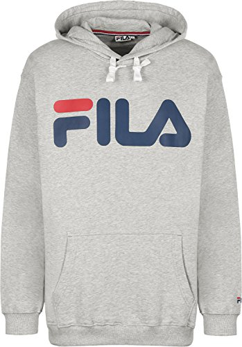 fila-classic-logo-kangaroo-sweat-a-capuche-light-grey