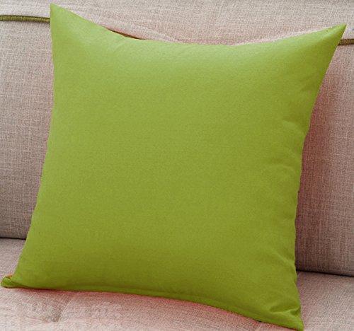 AURAVE Mercerised Cotton 220 TC Solid Plain 1 Pc Decorative Cushion Cover...