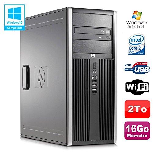 Tower PC HP Elite 8000CMT Core2Duo E84003GHz 16GB Festplatte Gunmetal Brenner WiFi Win 7