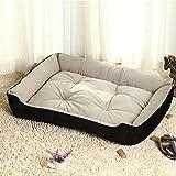 Yahee Hundebett Katzenbett Hundesofa Katzensofa Tierkorb Hundekorb Katzenkorb 5 Größe zum Wählen (XL, schwarz) - 6