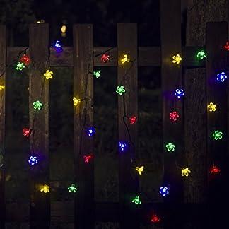 [8 Modes] Solar String Lights, 50 LED 22ft Flower Party Light Solar Garden Lights, Waterproof Decorative Lighting Floor Lamp for Garden, Patio, Yard, Home, Christmas Tree, Parties [8 Modes] Solar String Lights, 50 LED 22ft Flower Party Light Solar Garden Lights, Waterproof Decorative Lighting Floor Lamp for Garden, Patio, Yard, Home, Christmas Tree, Parties 515tIvhlK L