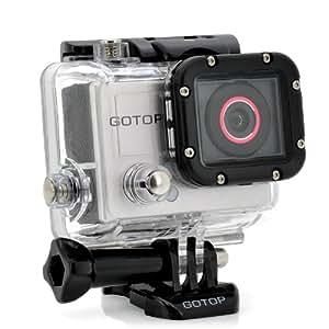 """Caméra HD Sport """"gotop"""" - 16MP, un écran de 1,5 pouces, 120FPS, 140 degrés grand objectif, 5 accessoires de montage"""