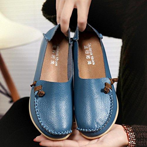 Rawdah 2017 Women Flat Breathable Soft Bottom Wild Leisure Peas Chaussures DéContractéEs Pour Bateaux Bleu