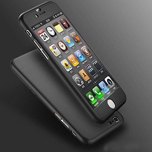 Duro iPhone di Apple 5 5s SE Caso / Copertura - Temperato Protezione dello Schermo di Vetro / Tutto L'manicotto Protettivo 360 / Clip a Doppio Strato Insieme Tecnologia / iCHOOSE / Nero