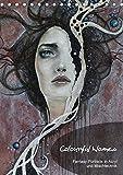 Colourful Women - Fantasy-Frauenportraits in Acryl und Mischtechnik (Tischkalender 2018 DIN A5 hoch): Figurative Malerei mit surrealistischen ... [Kalender] [Apr 13, 2017] JuPasArt, k.A.