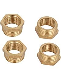 Tradico® 1/2BSP Male X 3/8BSP Female Thread Brass Hex Bushing Pipe Fitting 4pcs