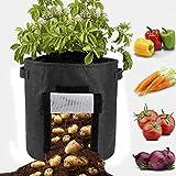 Homeng Lot de 5 Sacs de Culture pour Pommes de Terre de 4,5 litres avec poignées, Sacs de Culture pour Plantes et Pots de Fleurs, Sacs de Jardinage